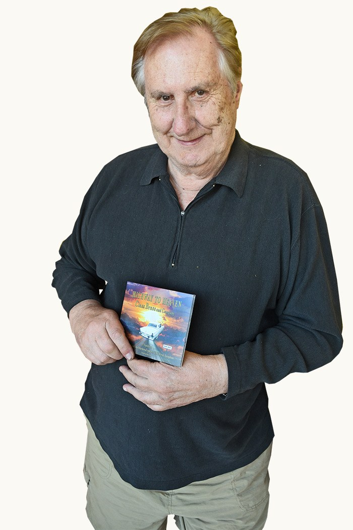 Jim Thirsk holds a copy of Class Brass and Company's Gospel CD Highway to Heaven.
