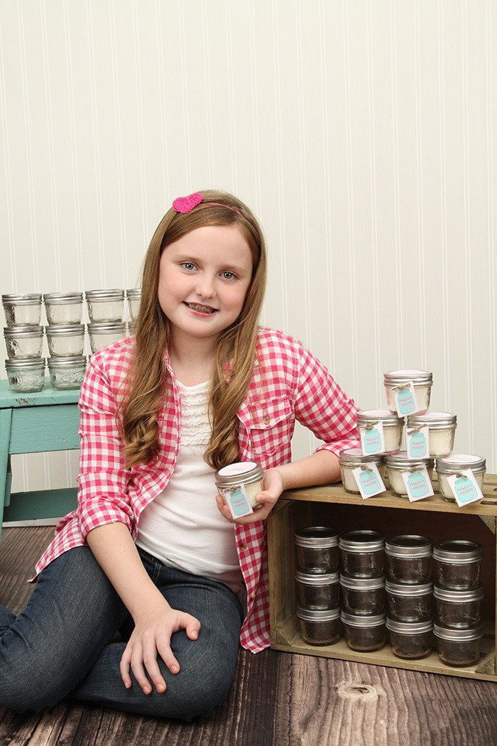 Maddie Petersen will sell her homemade candles in support of Children's Hospital outside the PriceSmart store on Fraser Highway this Friday, Nov. 22.