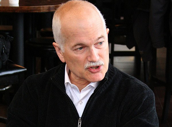 NDP leader Jack Layton campaigns in B.C. for the May 2011 federal election.