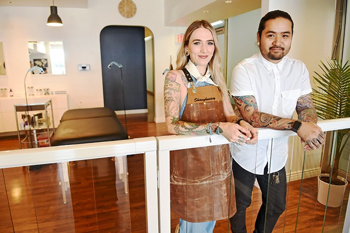 This September will mark one year since Studio Sashiko owners Shaughnessy Keely and Kyle Otsuji opened their world-renowned cosmetic tattooing studio in the heart of Langley City. The Vancouver natives — who now call Langley home — have had hundreds of people fly in from around the world to have their eyebrows microbladed by their team of five artists.