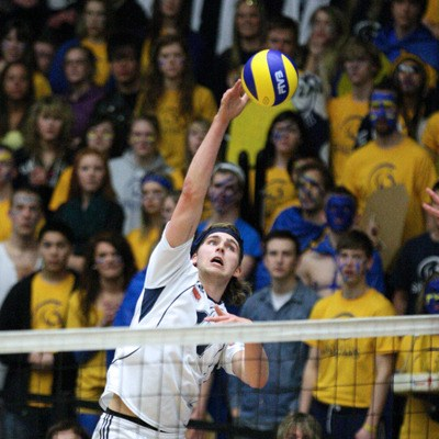 The Trinity Western Spartans are through to the national semifinals after a thrilling five-set victory over the Alberta Golden Bears on Friday night.