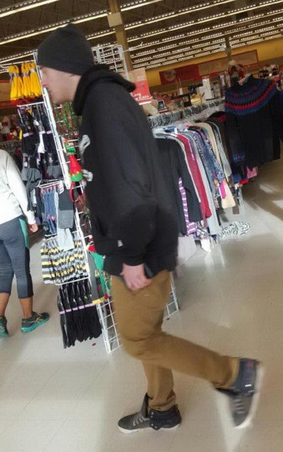 Langley RCMP have released this picture of a man suspected of inappropriately touching a young girl at Value Village on Nov. 11.