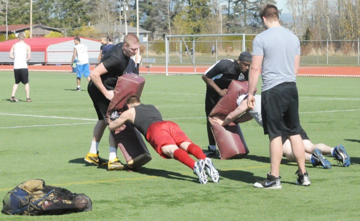 The Langley Rams were out at McLeod Athletic Park on March 25 for a one-day spring camp. The junior football team will begin its second season in Langley this August.
