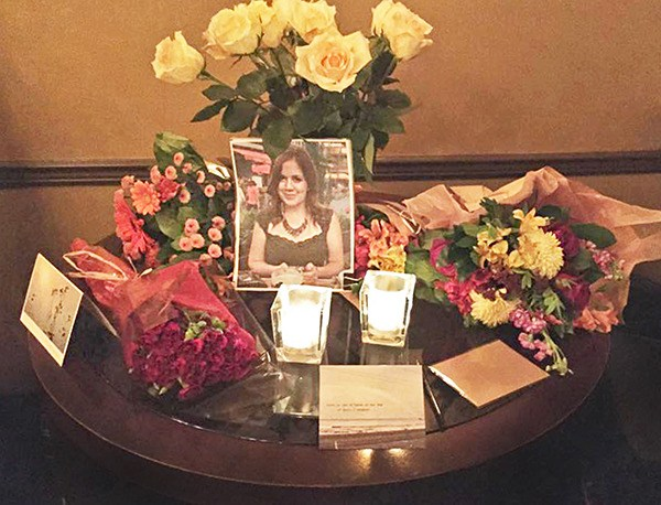 A memorial has been set up at Beatniks Bistro in Fort Langley after one of the restaurant's young servers drowned in Harrison Lake on Friday. She is the third person to drown in the glacier-fed lake this summer.