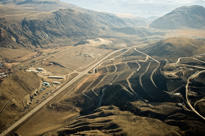 Aerial view of the Cache Creek landfill, which takes 500,000 tonnes of garbage a year from Metro Vancouver.