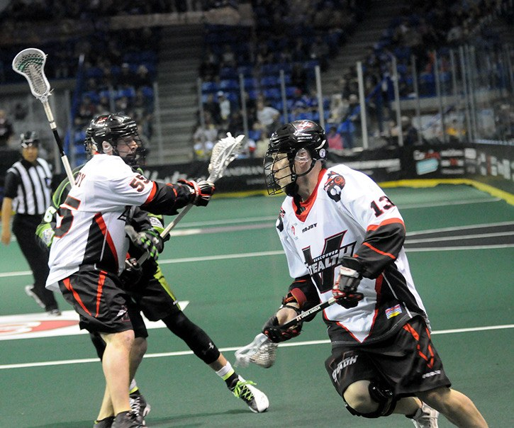 The Vancouver Stealth were missing Garrett Billings (#13) for six of the team's 18 games this past season. The Stealth missed the National Lacrosse League playoffs after finishing 5-13.