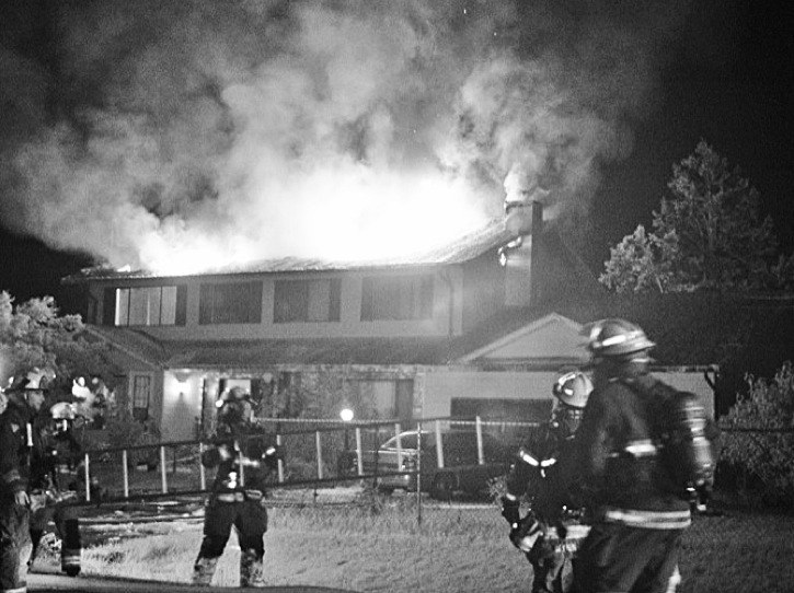 A chimney fire is blamed for the destruction of this home in the North Otter area of Langley in October. The Township fire department has issued tips to help prevent such