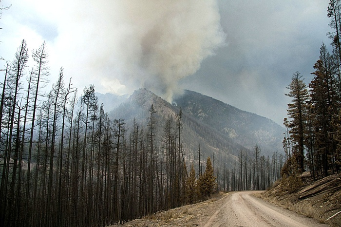The Tyaughton Lake fire near Lillooet was one of the wildfires that sent smoke south to Metro Vancouver in 2010.