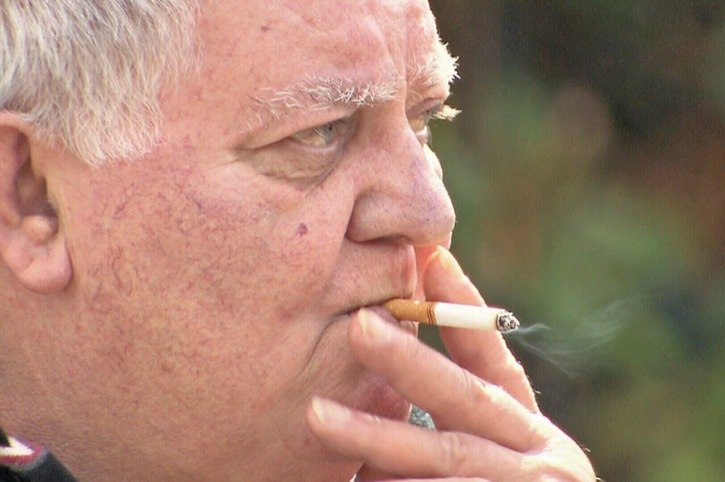Paul Aradi has been smoking for 50 years. He lives in a Langley building where lighting up inside common areas and suites was banned by the strata council after he moved in. A judge has now ordered him to cease and desist.