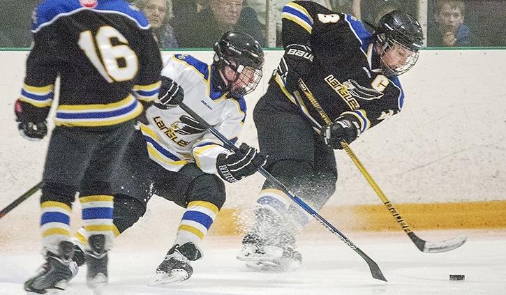 Bantam action at the Langley Cup Saturday