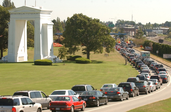 The busy Peace Arch border crossing is a frequent route for Lower Mainland residents heading to shop in Bellingham.