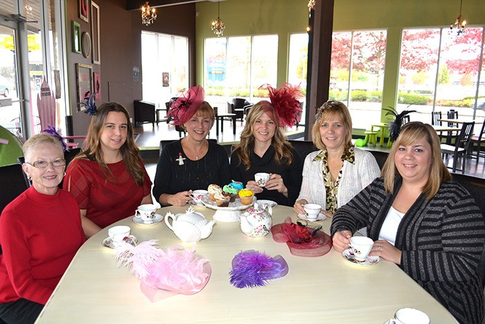 From left: Thank You for Caring Christmas Tea Fundraiser committee members Dianne McCafferty, Kirsten Charlesworth Jean Schaffer, Marilyn Morgan, Karen Cameron, and Melanie McDougall.  Missing are Leigh Castron, Kim Lewang and Diane Fox.
