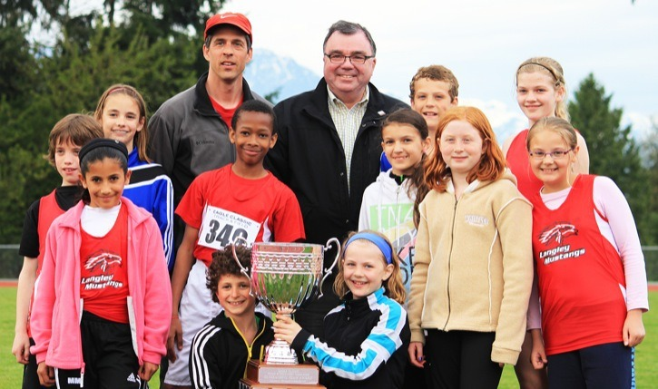 The Langley Mustangs earned some hardware at the Eagle Classic track and field meet in Maple Ridge.