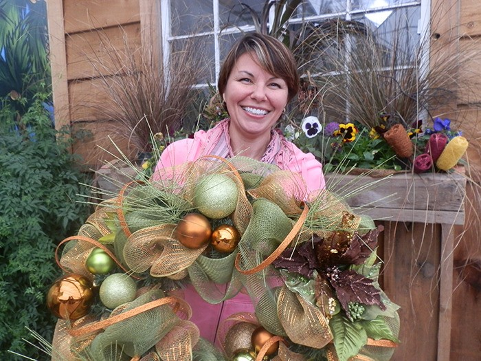 Learn to make a stunning holiday wreath at the Milner Village Winter Market this Saturday, Nov. 16.
