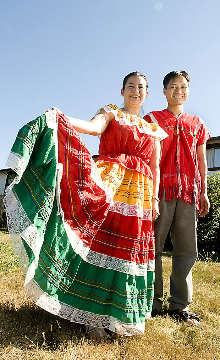 Silvia Vidal (left) sports the traditional dress of El Salvador while Ra Htoo wears a Karen traditional jacket. The pair took part in the 2010 Langley International Festival. Once again, organizers are seeking nominations of local people who help to promote equality and diversity within the Langleys.