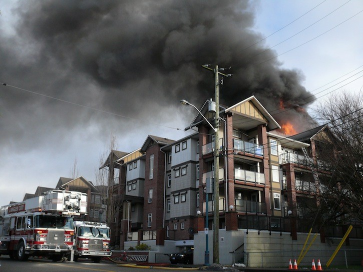 Fire broke out this morning at the Paddington Station complex in Langley City.