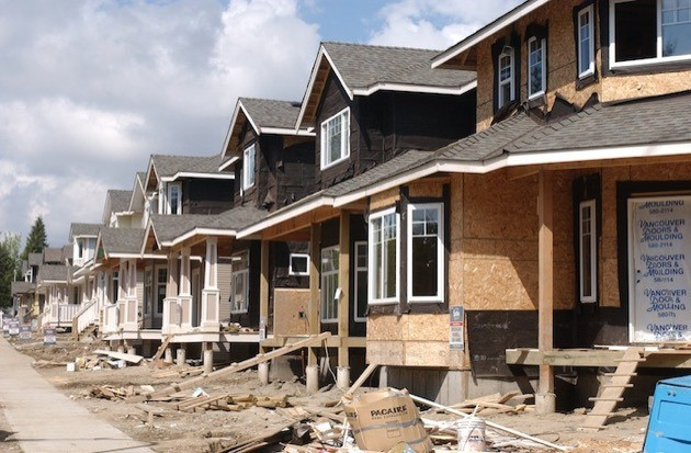 Demand for townhouses is up in the Fraser Valley.