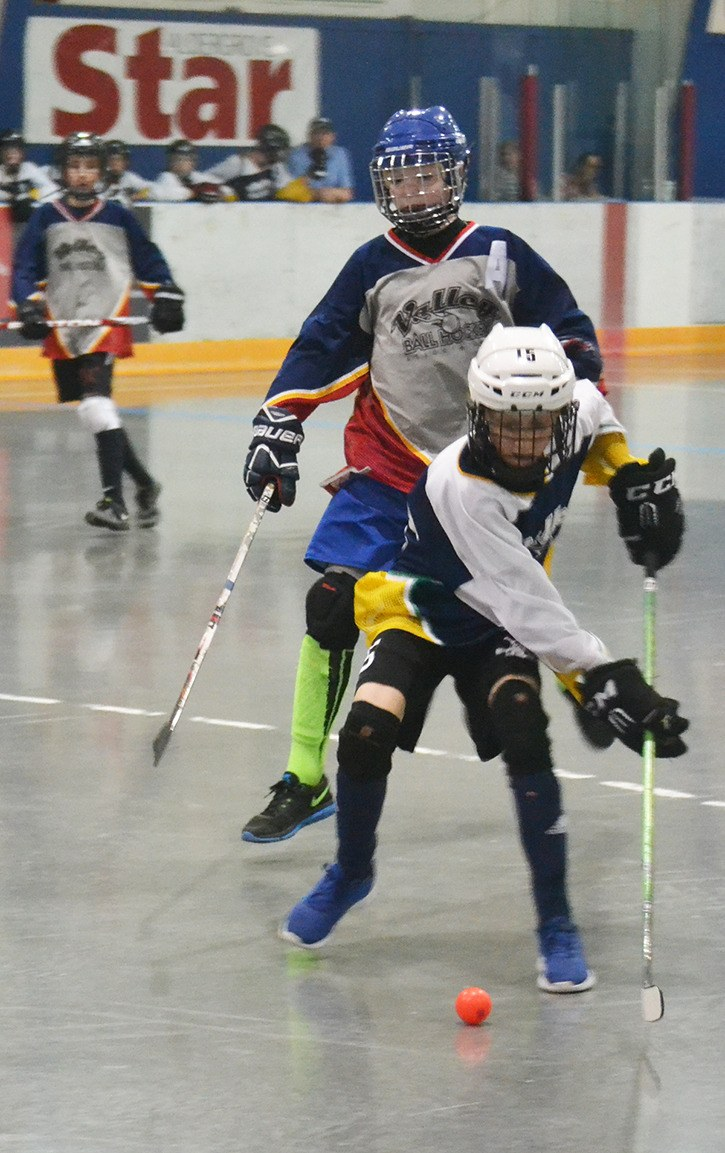 The MN11 Inlaws hosted the MN13 Gray side in Valley Ball Hockey Minor Mountain (1) division action Sunday afternoon at Aldergrove Community Arena.