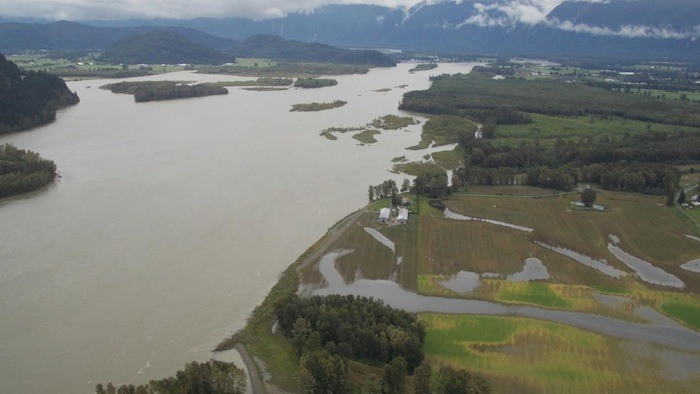 Fraser River during the high water of 2012.