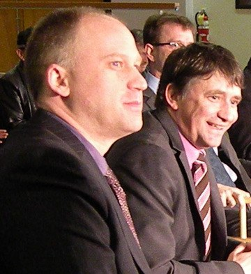 Dana Larsen (left) finished fourth in the 2011 NDP leadership contest after MLAs Nicholas Simons and Harry Lali dropped out.