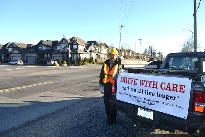 Gary Hees is getting signatures to improve safety for pedestrians at 196 Street and 72 Avenue where an 11-year-old boy was struck in a hit-and-run crash on Nov. 19.