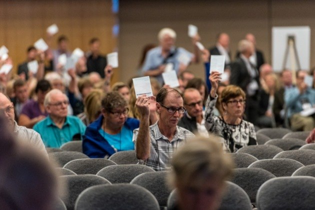 Delegates voting Wednesday morning at the Union of B.C. Municipalities convention in Victoria.