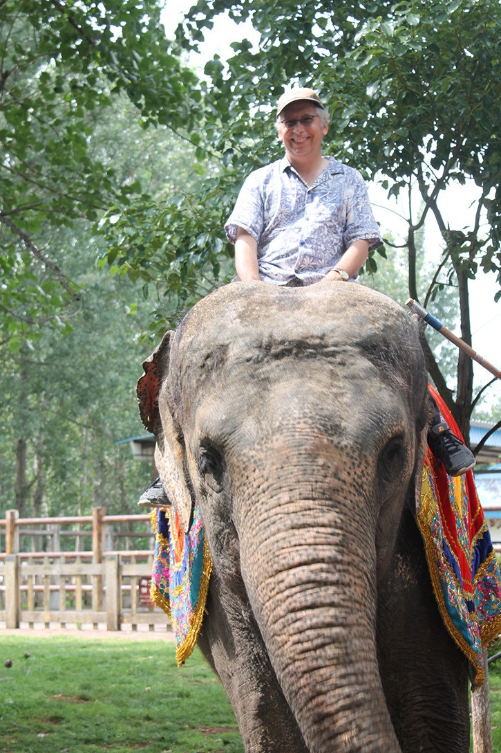 David Clements experienced an elephant ride while visiting China earlier this summer.