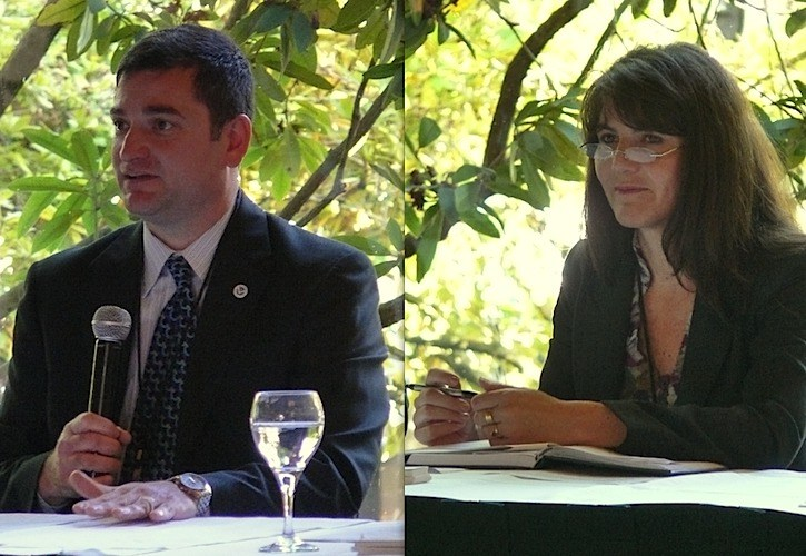 Gregory Alvarez and Daniela Evans spoke at a South Surrey conference.