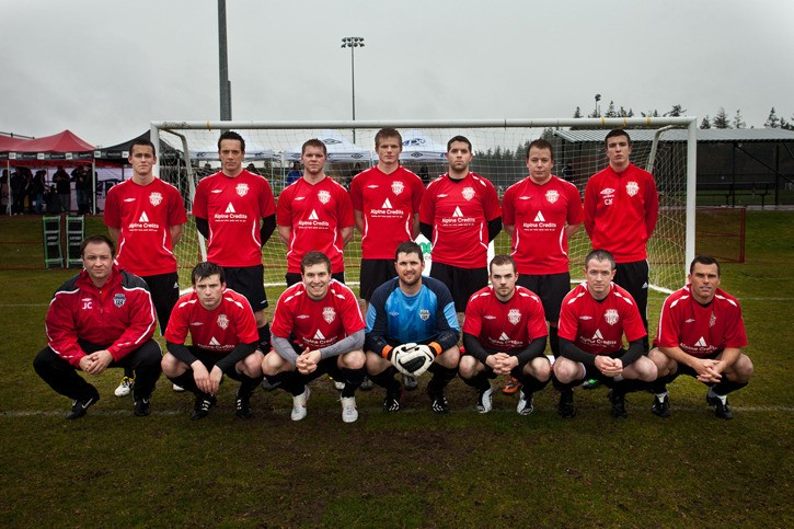 Langley FC's Premier men's soccer team captured the Pakenham Cup.