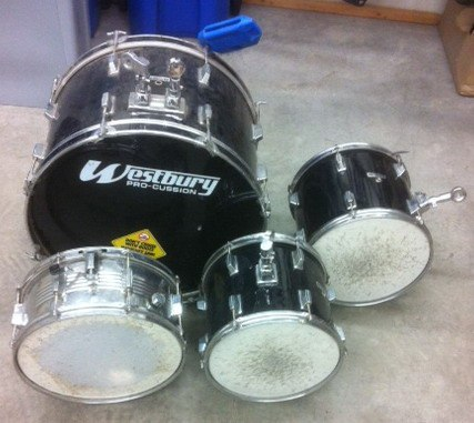 A Langley resident found these drums dumped at his front lawn.