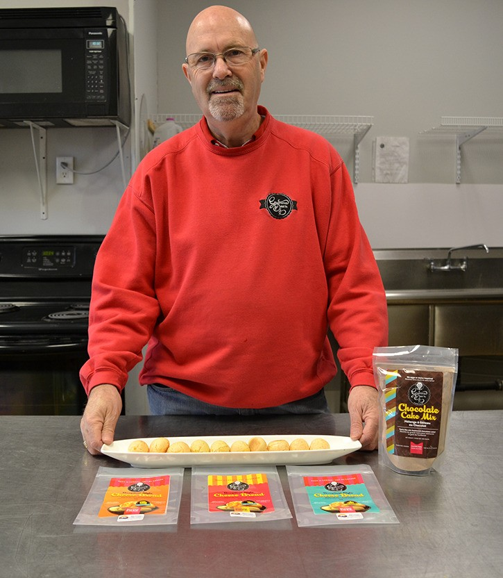 Doug Davidson is owner-operator of Gramma Dee's Gourmet Snacks, including gluten-free cheese bread and cake mix.