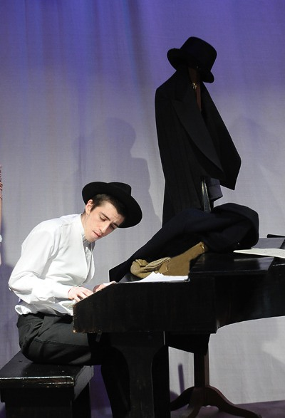 Marko Kundicevic performs the role of legendary composer Irving Berlin in Steppin' Out With My Baby, a musical revue on stage at Walnut Grove Secondary, March 4 to 12.
