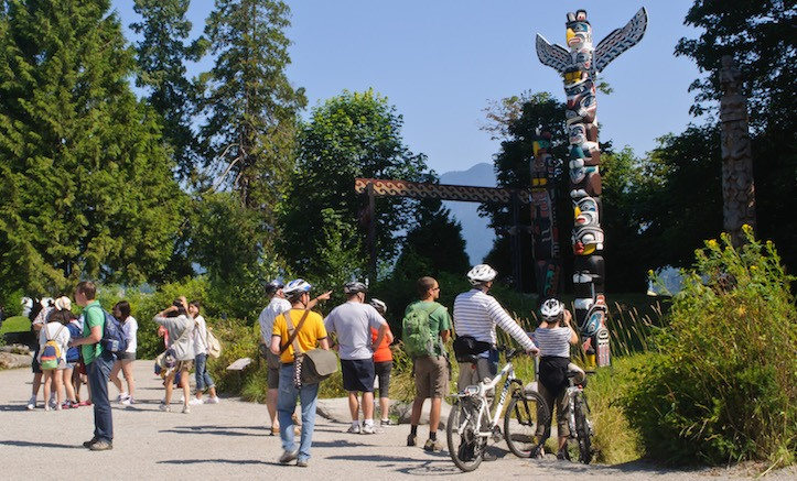 Stanley Park is a big draw for tourists.