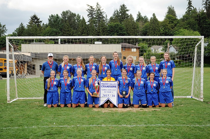 The Credo Christian Kodiaks are Fraser Valley champions in senior girls soccer for the first time in school history.