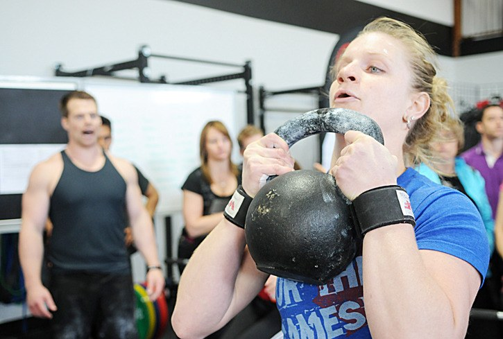 Leah Goddard took part in a crossfit competition at Hybrid Athletics on June 2. Goddard is part of the Langley gym's team which is competing at the 2012 Reebok world crossfit championships in California in July.