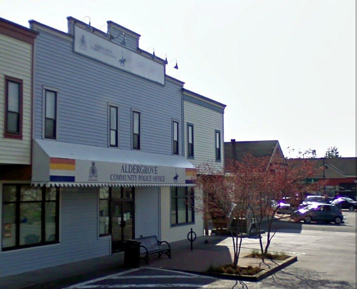 The Aldergrove CPO, where a man claimed he was pursued by would-be kidnappers in June of 2010.