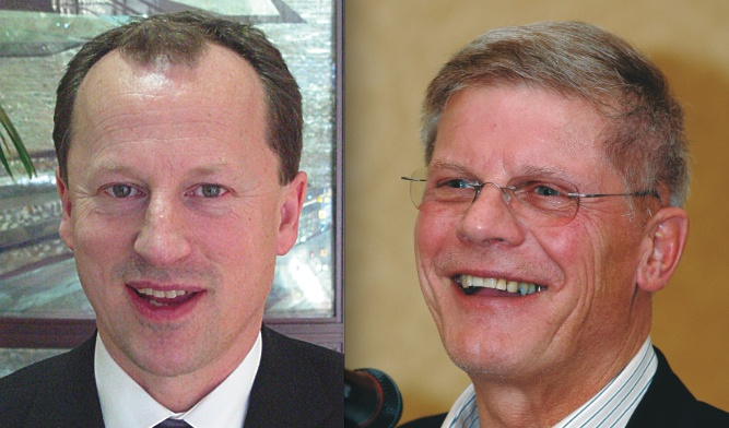 Phil Eidsvik (left) and then-MP John Cummins (now BC Conservative leader) were among the fishermen who were fined for participating in illegal protest fisheries in 2001 or 2002.