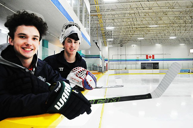 Team captain Baxter Anderson and goaltender Boston Bilous are among the players who have played key roles with the  Fraser Valley Thunderbirds major midget hockey team.