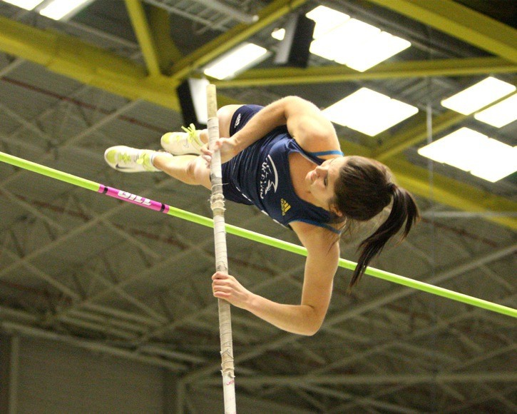 Trinity Western's Rebecca Marchant soared to the silver medal at the CIS track and field championships in Edmonton over the weekend. That was one of three medals won by Spartan athletes.
