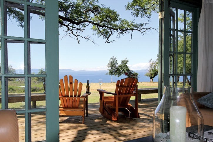 The Cottages at Seabright Farm in Point Roberts feature stunning ocean views at an affordable price.