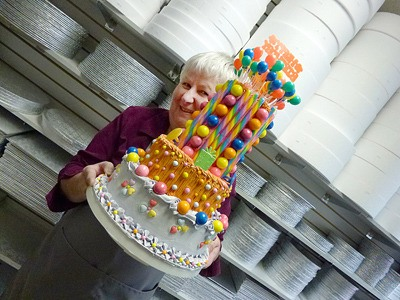 Janice De Ruiter is the woman behind the  successful Scoop-N-Save cake decorating shop which celebrates 30 years  on Saturday with a party. Left: Decoarting beads.