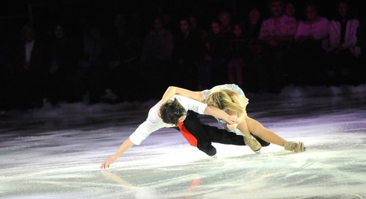 Siblings John and Sinead Kerr, seven-time British ice dance champions from Scotland, performed at the Holiday Festival On Ice, held at the LEC on Dec. 6.