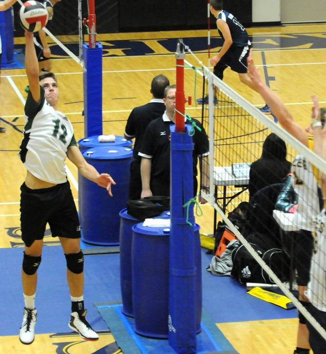 Langley Christian Lightning's Braden Heppell will be staying close to home as he is set to join the Trinity Western Spartans volleyball program next season.