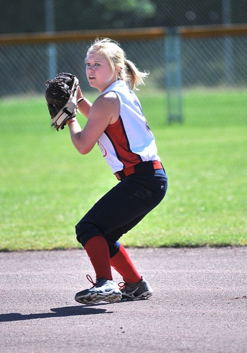 photo courtesy of VisionQuest Kayla MacGillivary makes the throw during last year's Canadian Open fastpitch championships at Softball City. MacGillivary and her Fraser Valley Fusion 95 teammates are looking to improve on last year's appearance when they reached the semifinals in their division.