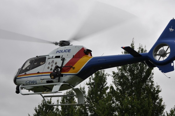 The RCMP's helicopter Air One helped located two hikers who got lost in Golden Ears park on Thursday.