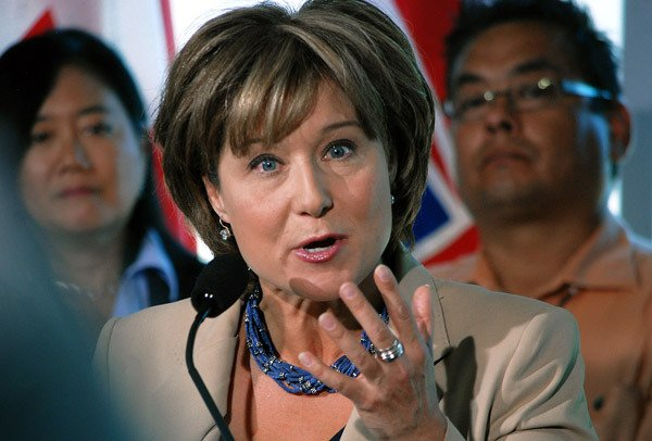 Premier Christy Clark on her campaign-style tour of B.C., promising to be the province's best-ever salesman.