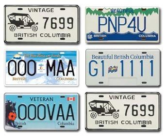 BC Licence Plates.