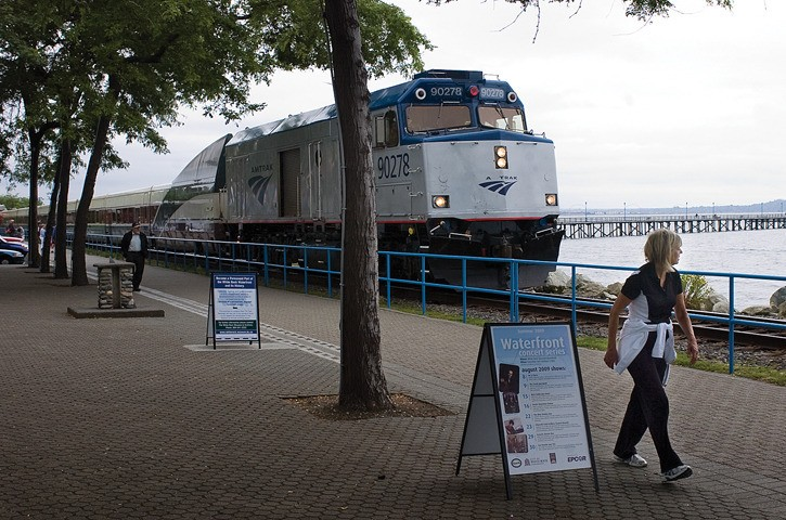 Amtrak trains pass through White Rock but don't stop. Years of lobbying have failed there, but a new campaign is underway to create an Amtrak stop in nearby Blaine, just steps from the Peace Arch.