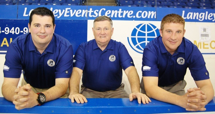 Roy Henderson and his sons Taylor (left) and Bobby officially take control of the Langley Rivermen today (June 1) as the junior A hockey club's new owners. The team is also co-owned by John Henderson, Roy's older brother. Hockey has been a family business for the Hendersons their entire life.