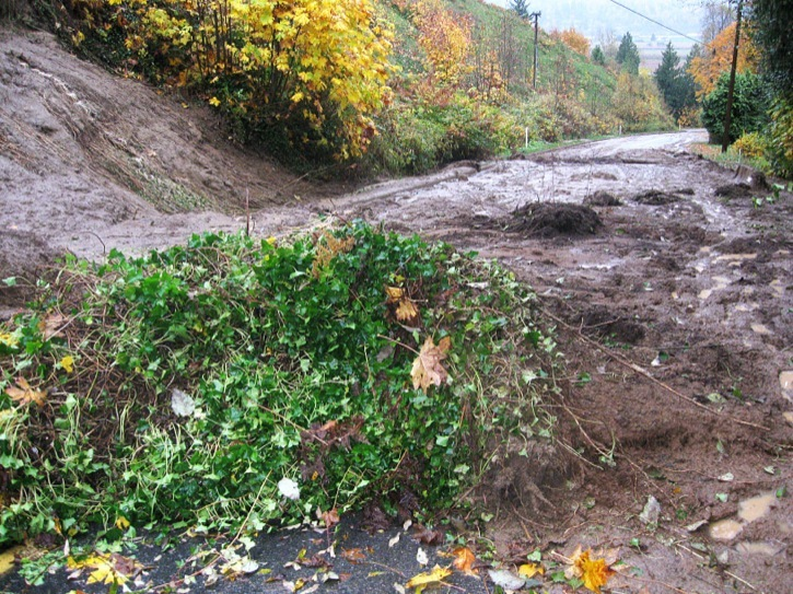 A mudslide has covered 264 Street on the hill leading down to Glen Valley. It was caused by heavy rains. One home was damaged and evacuated. The situation is still being assessed by Langley Township.